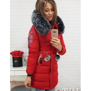 Dievčenská zimná bunda s odnímateľnou kožušinou