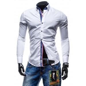 Elegantná pánska košeľa bielej farby