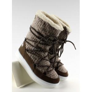 Zateplené zimné čižmy pre deti so šnúrkami