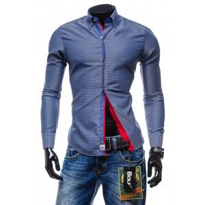 Elegantná pánska košeľa modrej farby