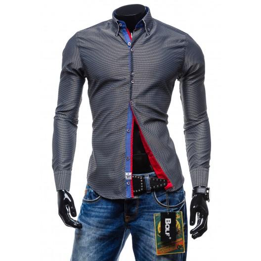 Elegantná pánska košeľa čiernej farby