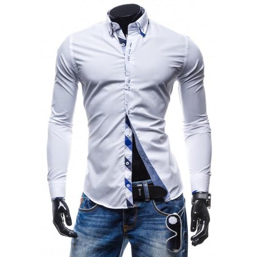 Trendy košeľa bielej farby