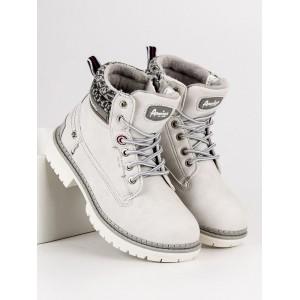 Zimné detské topánky so zipsom na bočnej strane