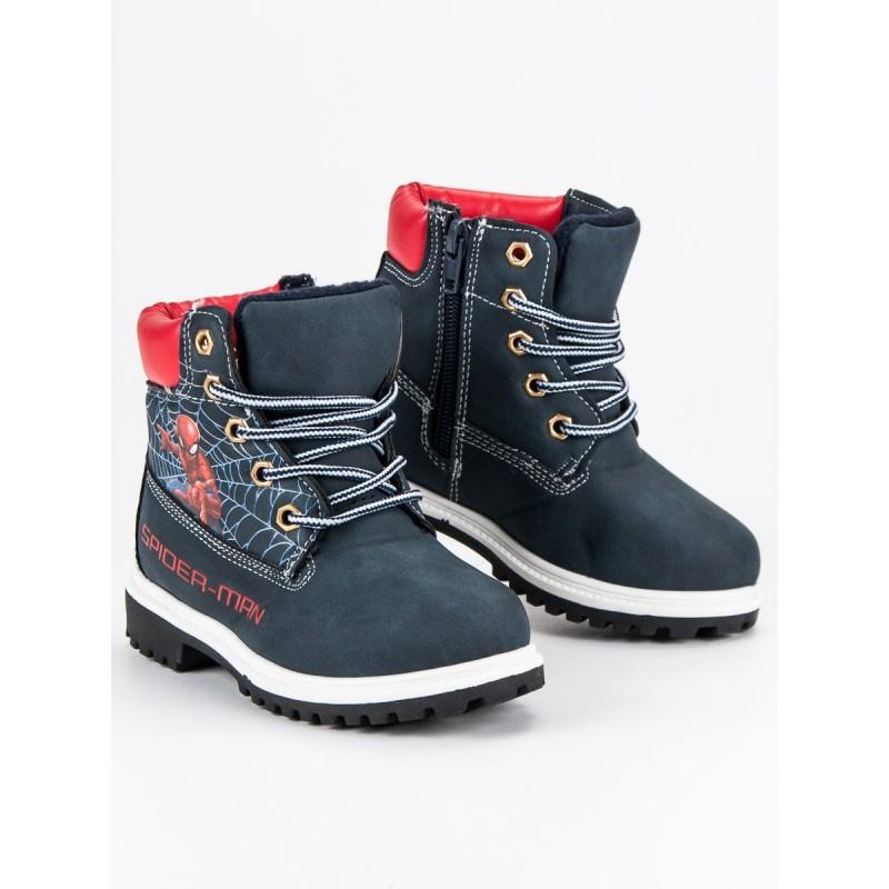 b643115c3 Rozprávkové čierne detské zimné topánky s motívom spiderman