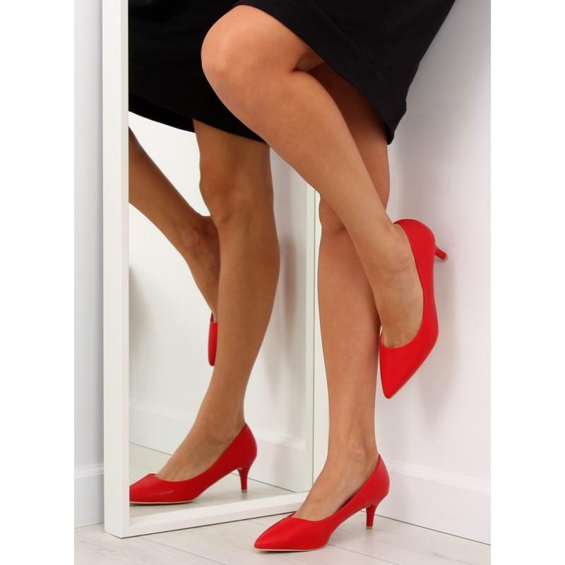 fb8963eb0a Lodičky pre dámu červené na nízkom opätku