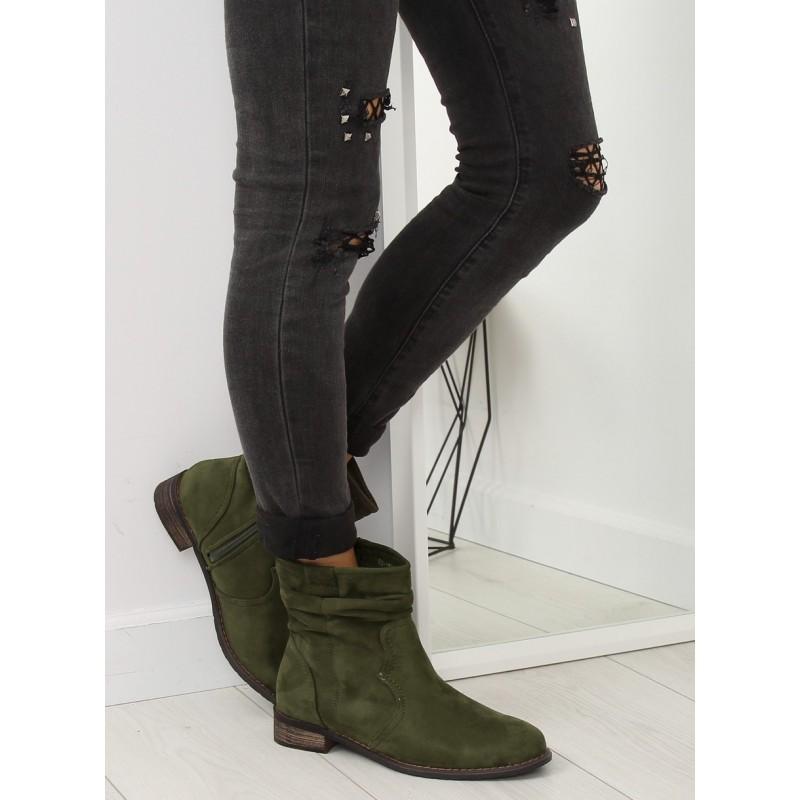 bd8d7d50ab Dámske zimné kotníkové topánky zelenej farby
