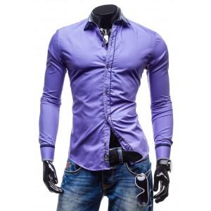 Pánske košele oblekové fialovej farby
