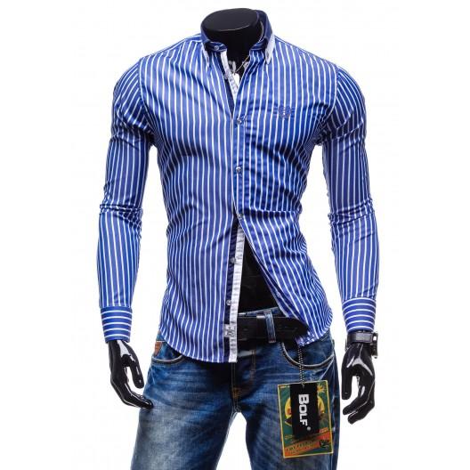 Modrá pásikovaná košeľa