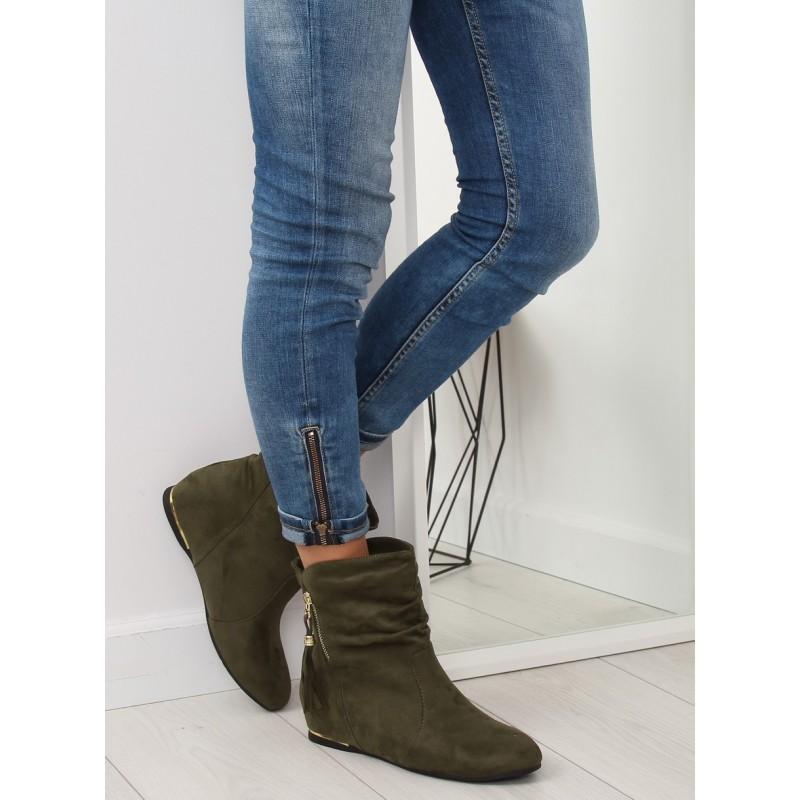 Dámske jesenné topánky v zelenej farbe so zipsom 9e881a799f8