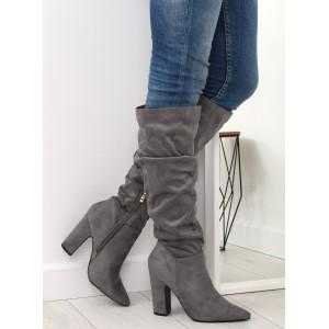 Zimné dámske zateplené čižmy na vysokom podpätku - fashionday.eu c30478bf805