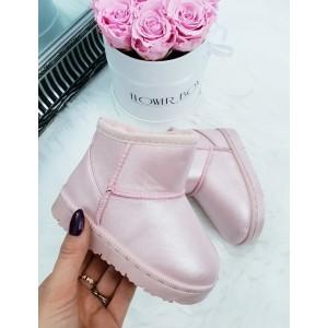 Zateplené snehule pre deti v ružovej farbe