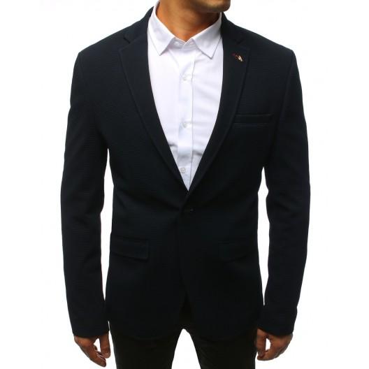 Štýlové pánske sako v modrej farbe s gombíkmi