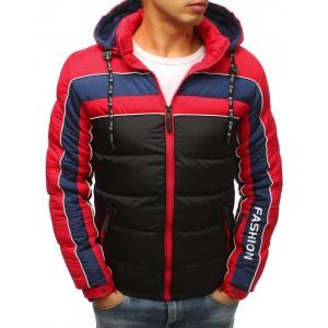 Pánska športová bunda na zimu v čiernej farbe s odnímateľnou kapucňou