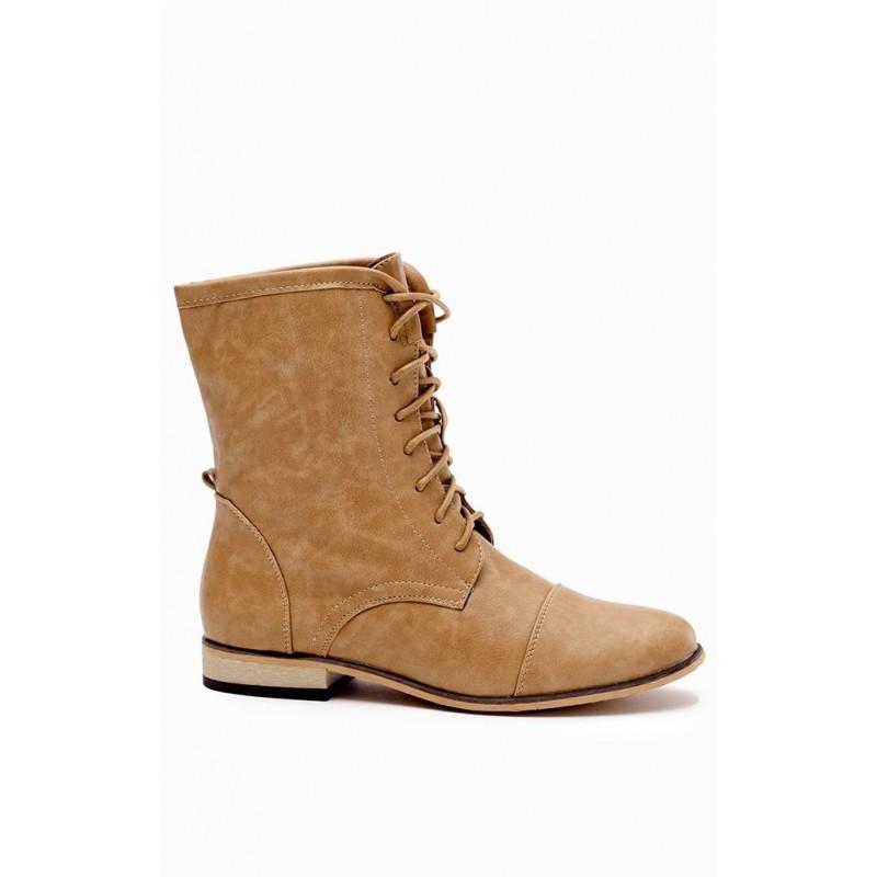 85ecbbe86f8a Šnúrovacie dámske topánky hnedej farby - fashionday.eu