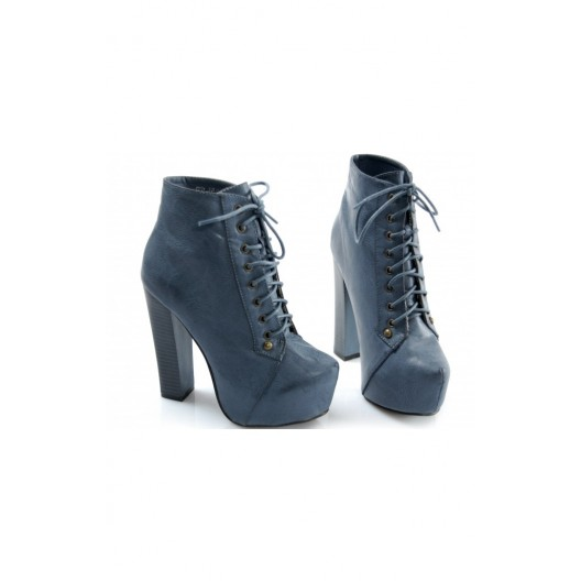 Elegantné dámske topánky s hrubým vysokým opätkom