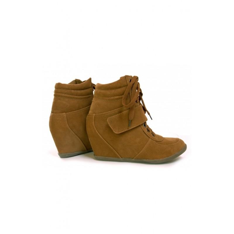 e34aa6d194 Dámske šnúrovacie členkové topánky hnedej farby - fashionday.eu