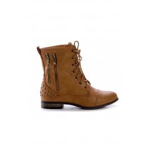 Členkové dámske topánky hnedej farby