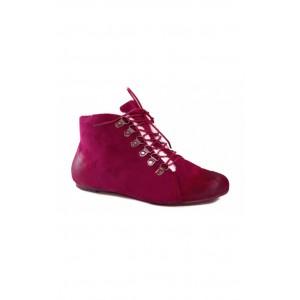Kotníkové šnúrovacie topánky ružovej farby
