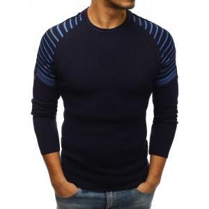 Elegantný pánsky sveter modrej farby