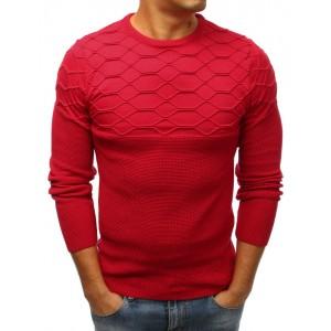 Elegantný červený pánsky sveter