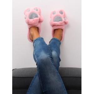 Teplé papuče ružové