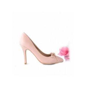 Spoločenské dámske lodičky ružovej farby s vysokým podpätkom bez platformy