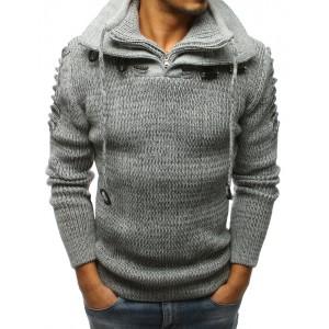 Moderný sveter s golierom pre pánov