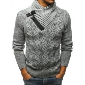 Hrubý pletený pánsky sveter na zimu