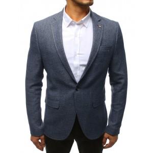 Neformálne modré pánske sako na každú príležitosť s módnou podšívkou