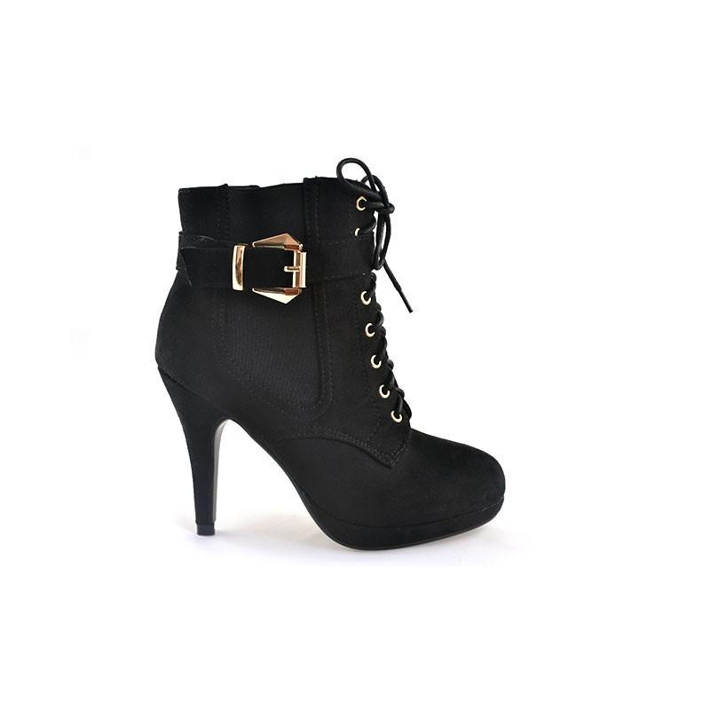 cad944a58a57 Predchádzajúci. Trendy dámske topánky s vysokým podpätkom čiernej farby na  platforme ...