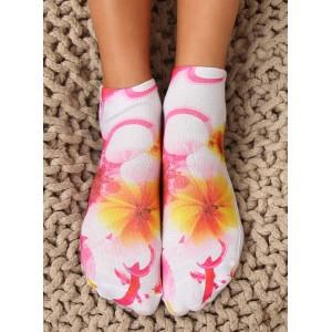 Originálne dámske členkové ponožky s kvetmi
