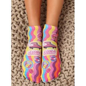 Farebné dámske ponožky s motívom kolieskových korčulí
