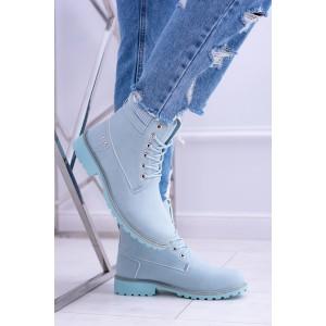 Trendy dámske svetlo modré zateplené workery