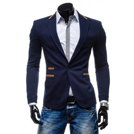 Elegantné pánske sako modrej farby
