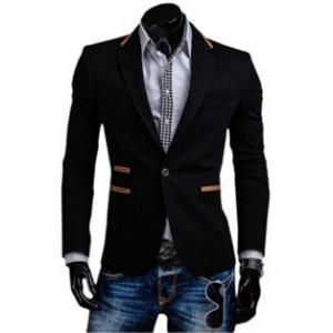 Moderné pánske sako čiernej farby