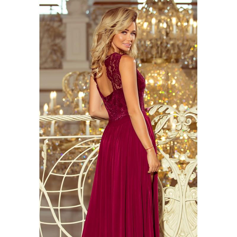 Spoločenské šaty dlhé bordovej farby 767b480678e