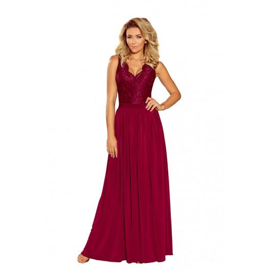 Spoločenské šaty dlhé bordovej farby