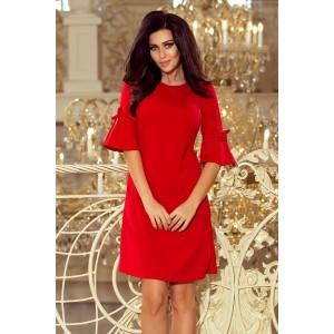 Luxusné spoločenské šaty červenej farby