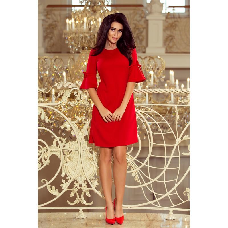 Luxusné spoločenské šaty červenej farby c5c3a8f01b7