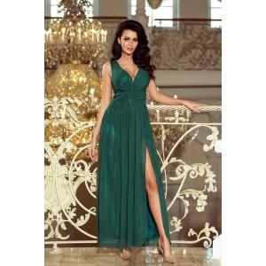 Dlhé zelené plesové šaty