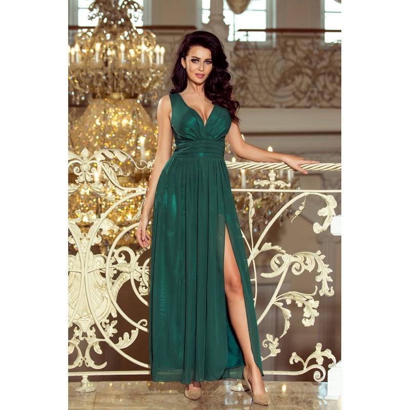 Dlhé zelené plesové šaty 122a26added