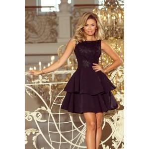 Čierne dámske spoločenské šaty krátke