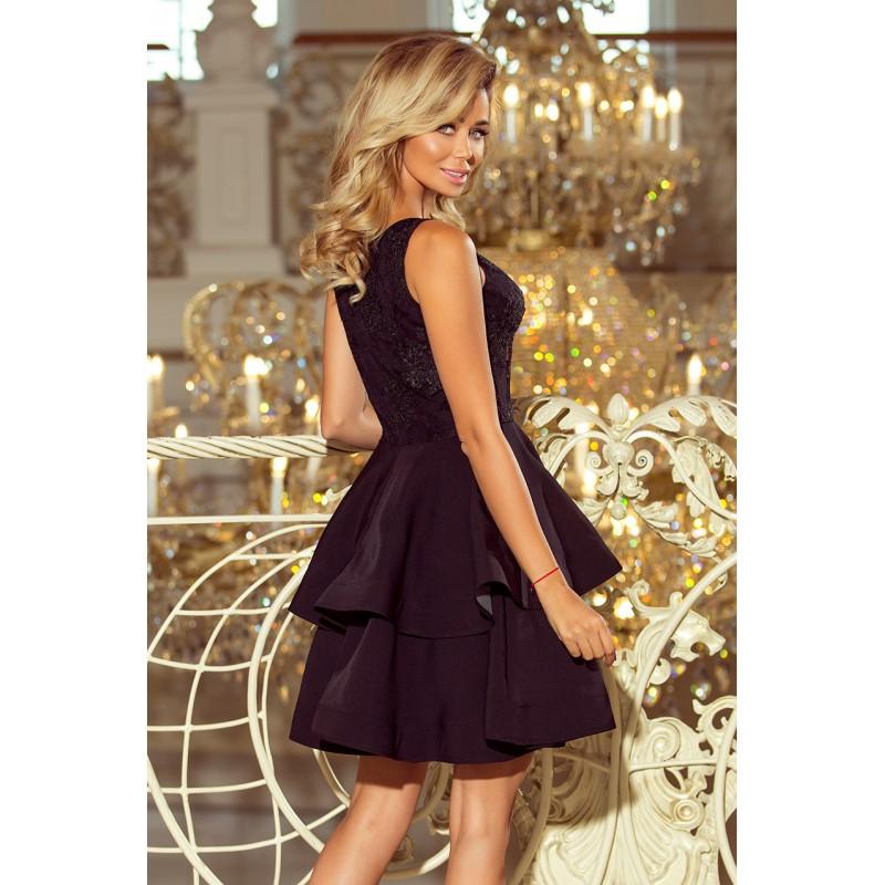 42bf9eb821c3 Čierne dámske spoločenské šaty krátke