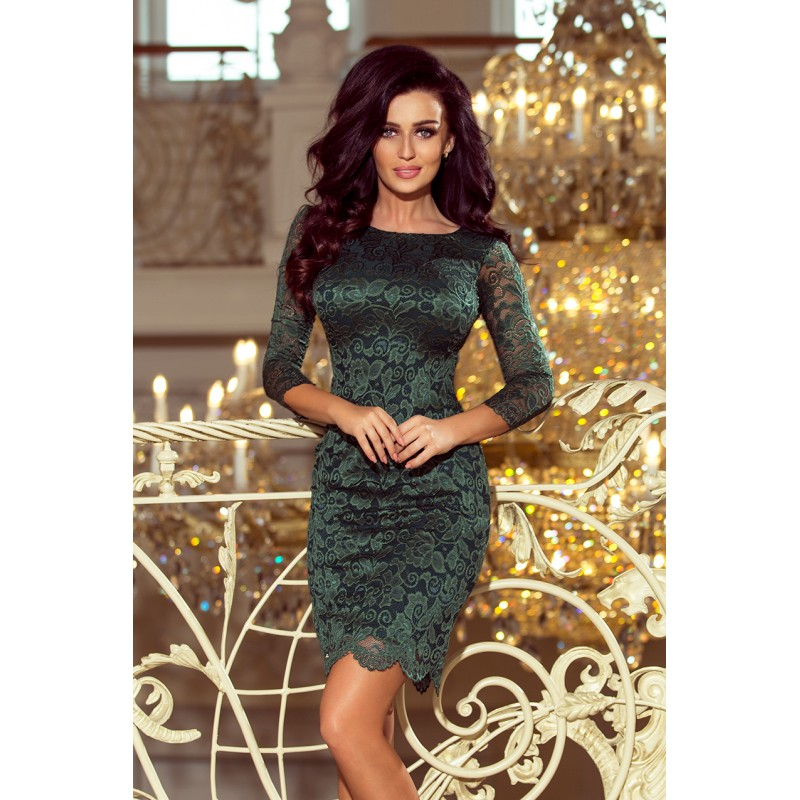 53d8afd30206 Elegantné šaty na svadbu zelenej farby