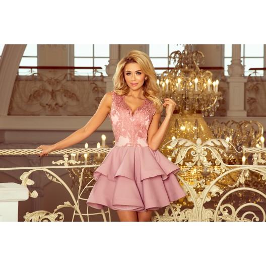 Spoločenské šaty na svadbu ružovej farby