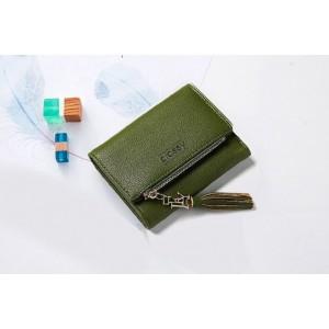 e28dcff2a Zelená dámska peňaženka s ozdobným strapcom ...