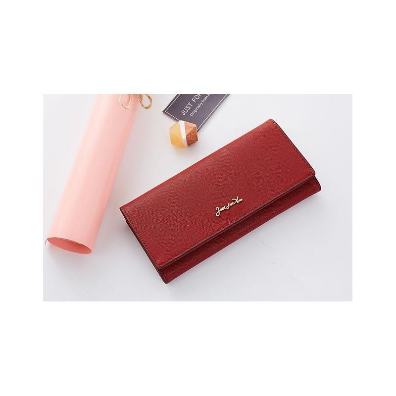 9c2df30774 Originálna červená dámska peňaženka so zlatým nápisom just for you