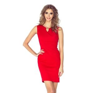 Elegantné dámske červené šaty