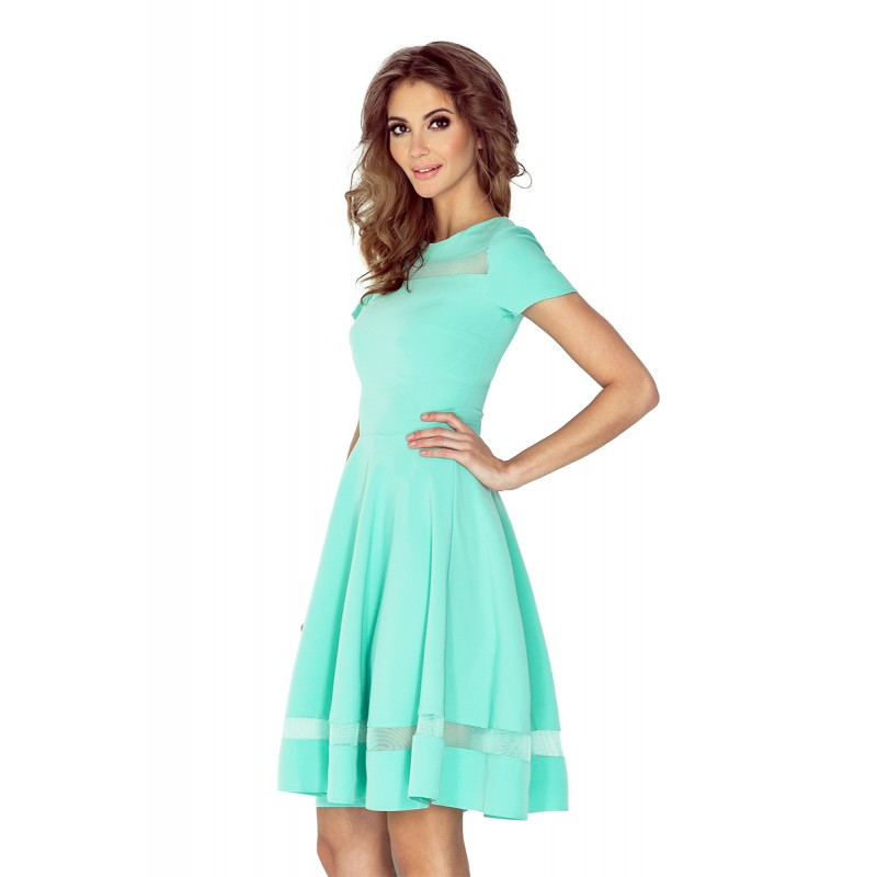 Spoločenské šaty krátke mätovo zelenej farby 27b2b31a925