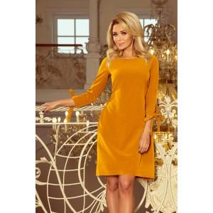 Večerné šaty krátke žltej farby